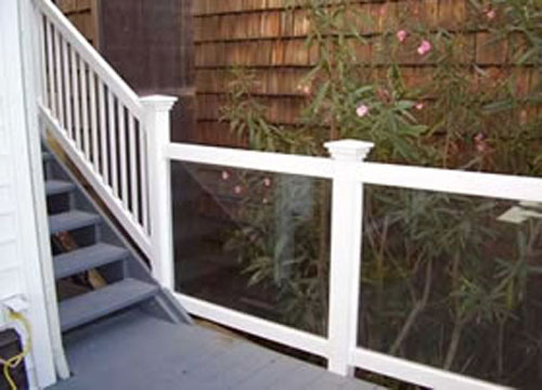 Staircase Deck Glass Railings