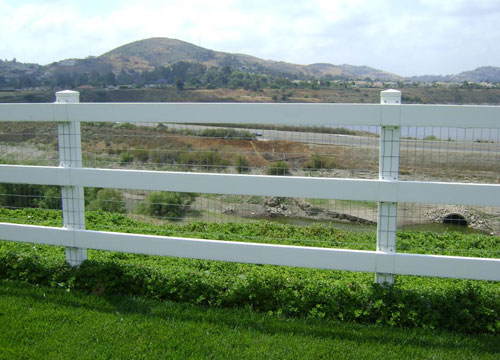 OC White Vinyl Rail Fences