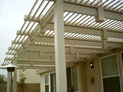 This Louvered Vinyl Patio Cover Was Installed In Eastvale, CA. Country  Estate Fence Also Added Lights During This Patio Cover Installation.